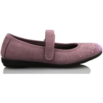 Zapatos Niños Bailarinas-manoletinas Vulladi SERRAJE CAN NIÑA BAILARINA COMODA ROSA