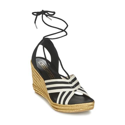 Recortes de precios estacionales, beneficios de descuento Marc Jacobs DANI Negro / Blanco - Envío gratis Nueva promoción - Zapatos Sandalias Mujer