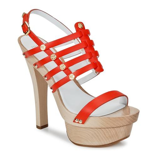 Zapatos Mujer Sandalias Versace DSL943T Rojo