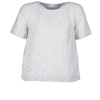 textil Mujer camisetas manga corta Manoush COTONNADE SMOCKEE Blanco