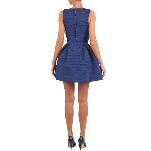 Textil Mujer Vestidos Elastic Cortos Manoush Azul nPk8wOX0