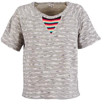 textil Mujer camisetas manga corta Manoush ETNIC SWEAT Gris