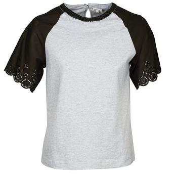 textil Mujer camisetas manga corta Manoush FANCY Gris / Negro