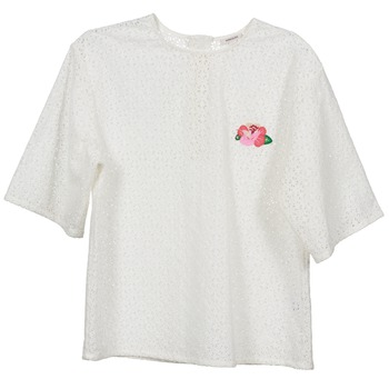 textil Mujer Tops / Blusas Manoush FLOWER BADGE Blanco