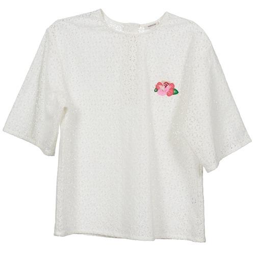 Badge TopsBlusas Mujer Flower Textil Blanco Manoush 9WDHI2ebEY