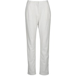 textil Mujer pantalones con 5 bolsillos Manoush FLOWER BADGE Blanco