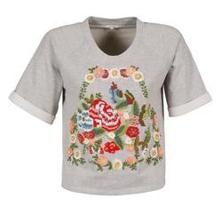 textil Mujer camisetas manga corta Manoush GIPSY Gris
