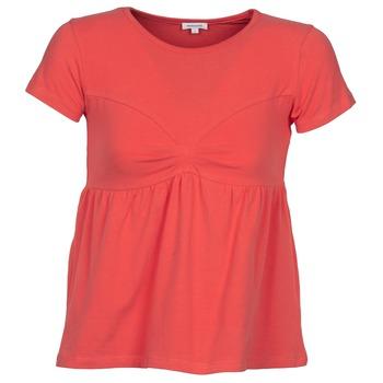 textil Mujer camisetas manga corta Manoush MOLLETON Coral