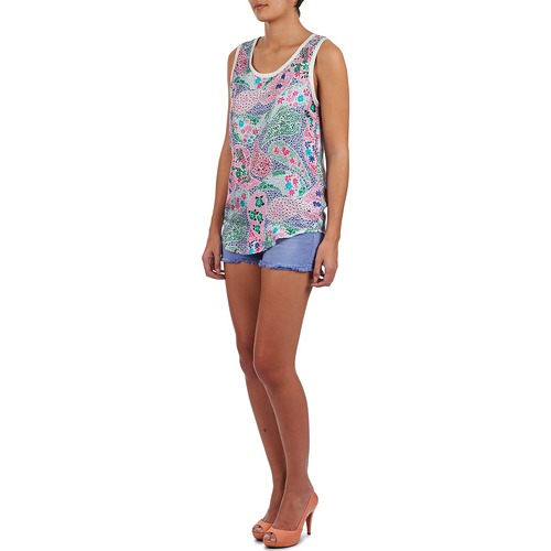 Camisetas Manoush Multicolor Mujer Sin Mangas Paisley Retro Textil luKJT3cF1