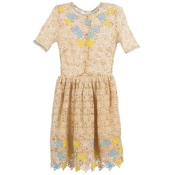 textil Mujer vestidos cortos Manoush ROSES Crudo