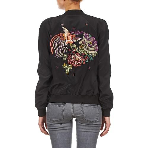 Mujer Manoush Siatique Teddy Textil ChaquetasAmericana Negro Fleur SVUMpz