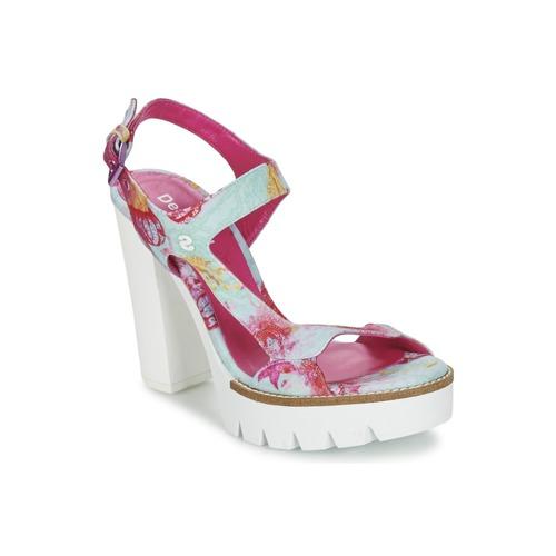 Zapatos Mujer Sandalias Desigual VENICE Turquesa / Rosa