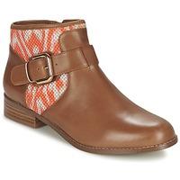 Zapatos Mujer Botas de caña baja Mellow Yellow VABEL Marrón / Naranja