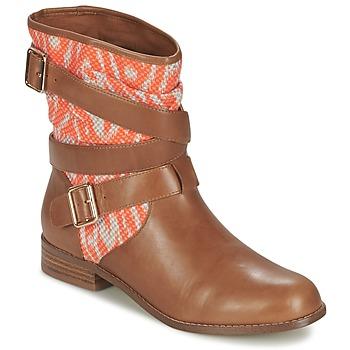 Zapatos Mujer Botas de caña baja Mellow Yellow VABELO Marrón / Naranja