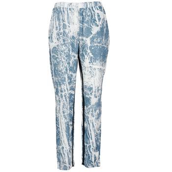 textil Mujer Pantalones fluidos Vila GRUNGE ME Azul / Blanco