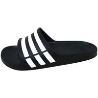 Zapatos Sandalias de deporte adidas Originals Duramo Slide Noir / Blanc / Noir
