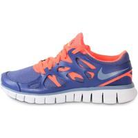 Zapatos Mujer Deportivas Moda Nike Free Run 2 Ext Blue Legend Bleu/Orange