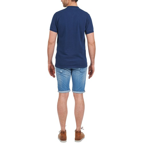 Hombre Corta Polos Manga Textil Azul Kulte Dalle hQdtrsC