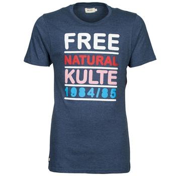 textil Hombre camisetas manga corta Kulte AUGUSTE FREE Azul