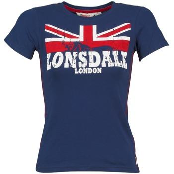 textil Mujer camisetas manga corta Lonsdale ERYKAH Azul