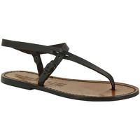 Zapatos Mujer Sandalias Gianluca - L'artigiano Del Cuoio 592 D MORO CUOIO Testa di Moro