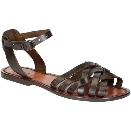 Zapatos Mujer Sandalias Gianluca - L'artigiano Del Cuoio 595 D MORO CUOIO Testa di Moro