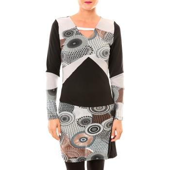 textil Mujer Vestidos cortos Bamboo's Fashion Robe Cercle BW613 gris Gris