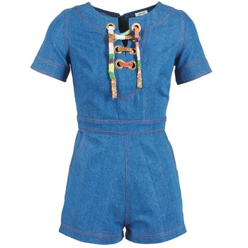 textil Mujer Monos / Petos Manoush LACET Azul / Jean