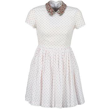 textil Mujer vestidos cortos Manoush PLUMETIS STRASS Blanco / Rojo