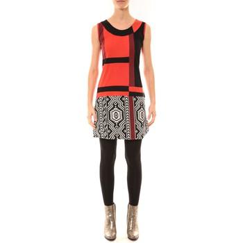 textil Mujer Vestidos cortos Bamboo's Fashion Robe BW648 rouge Rojo