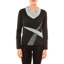 textil Mujer Camisetas manga larga Bamboo's Fashion Top BW632 noir Negro