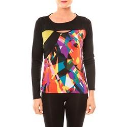 textil Mujer Camisetas manga larga Bamboo's Fashion Top BW623 noir Negro