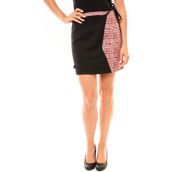 textil Mujer Faldas Bamboo's Fashion Jupe BW668 noir Negro