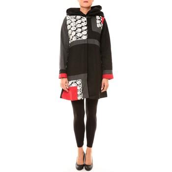 textil Mujer Abrigos Bamboo's Fashion Manteau BW670 noir Negro