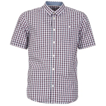 textil Hombre camisas manga corta Tom Tailor CATHARINI Blanco / Rojo / Negro