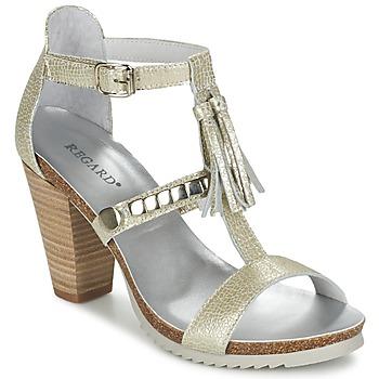 Zapatos Mujer Sandalias Regard ROKOLO Platino