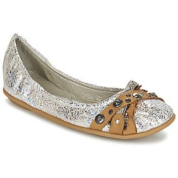 Zapatos Mujer Bailarinas-manoletinas Regard SOLI Plateado / Beige