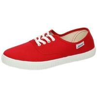 Zapatos Mujer Zapatillas bajas Javer Bambas lonas rojas Rojo