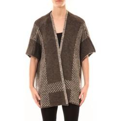 textil Mujer Chaquetas de punto De Fil En Aiguille Poncho Elina Marron Marrón