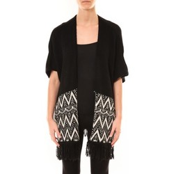 textil Mujer Chaquetas de punto De Fil En Aiguille Gilet Mélodie Noir Negro