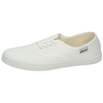Zapatos Mujer Zapatillas bajas Javer Bambas lona ingles Blanco