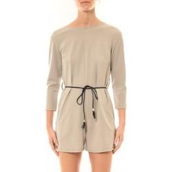 textil Mujer Monos / Petos Nina Rocca Combi-Short Léa beige Beige