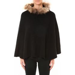 textil Mujer Jerséis Nina Rocca Poncho MO-E2019 noir Negro