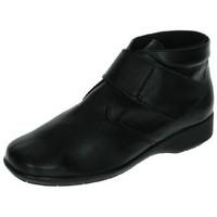 Zapatos Mujer Botas de caña baja Dliro BotÍn de piel velcro Negro