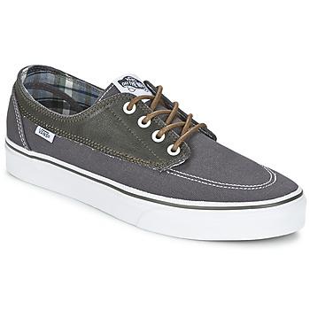 Zapatos Hombre Zapatillas bajas Vans BRIGATA Gris / Kaki