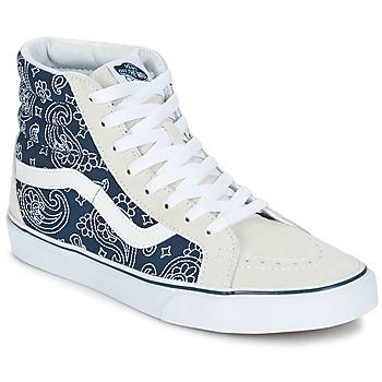 Zapatos Zapatillas altas Vans SK8-HI REISSUE Bandana / Azul / Blanco