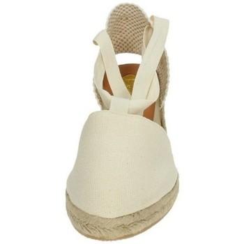 Zapatos Mujer Alpargatas Torres Valencianas de tela Beige