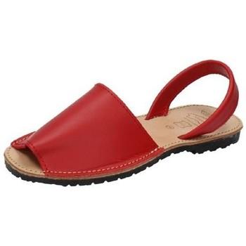 Zapatos Mujer Sandalias Whetis Menorquinas de piel Rojo