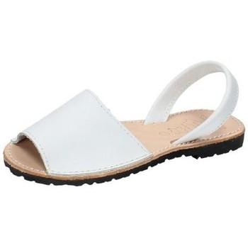 Zapatos Mujer Sandalias Whetis Menorquinas de piel Blanco