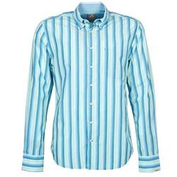 textil Hombre camisas manga larga Gaastra SUMMERJAM Azul / Blanco